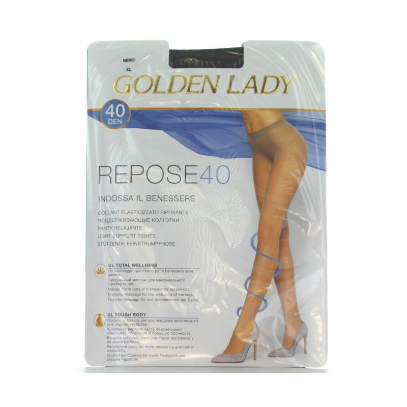 GOLDEN LADY REPOSE 40 36G NERO T.XL
