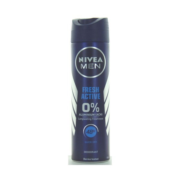 NIVEA FOR MEN DEODORANTE SPRAY 48H FRESH ACTIVE 150 ML, DEODORANTI ANTIODORE PER PERSONA, S007768, 69560
