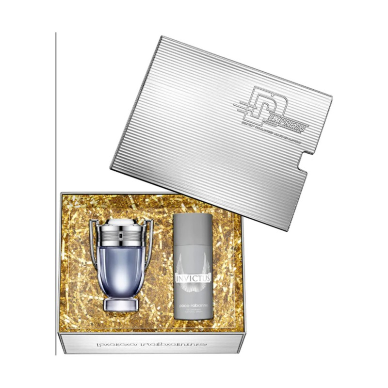 PACO RABANNE INVICTUS UOMO COFANETTO EDT 100 ML + DEODORANTE SPRAY 150 ML