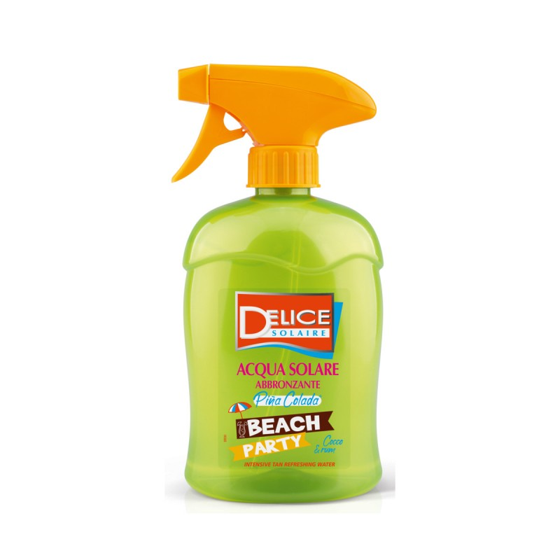 DELICE SOLAIRE ACQUA ABBRONZANTE BEACH PARTY PINA COLADA COCCO & RUM 500 ML