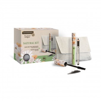 NATURAVERDE BIO MAKE UP NATURAL KIT POCHETTE MASCARA NERO + MATITA NERA
