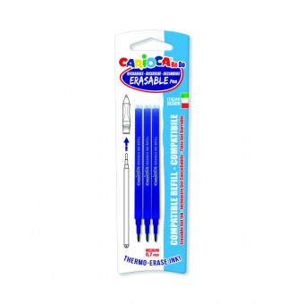 CARIOCA RE-DO 3 RICARICHE PUNTA MEDIUM 0,7 MM PER PENNA CANCELLABILE COLORE BLU BLISTER