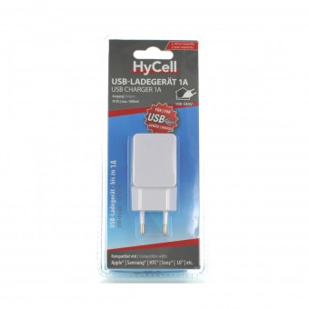 HYCELL USB CHARGER 1A 5V DC 1000mA CARICATORE USB