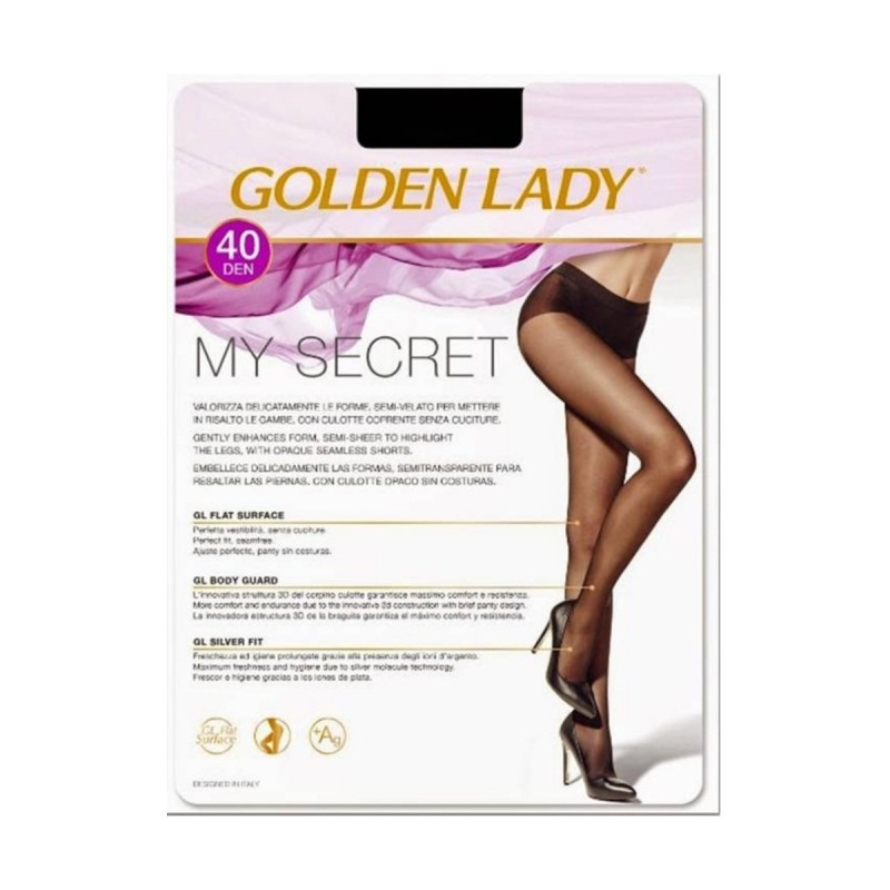 GOLDEN LADY COLLANT MY SECRET 40 DENARI MELON TAGLIA 2/S