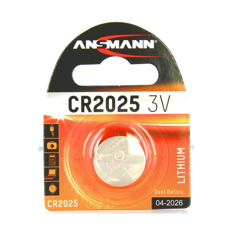 ANSMANN LITHIUM BOTTONE CR 2025 3V BATTERIA