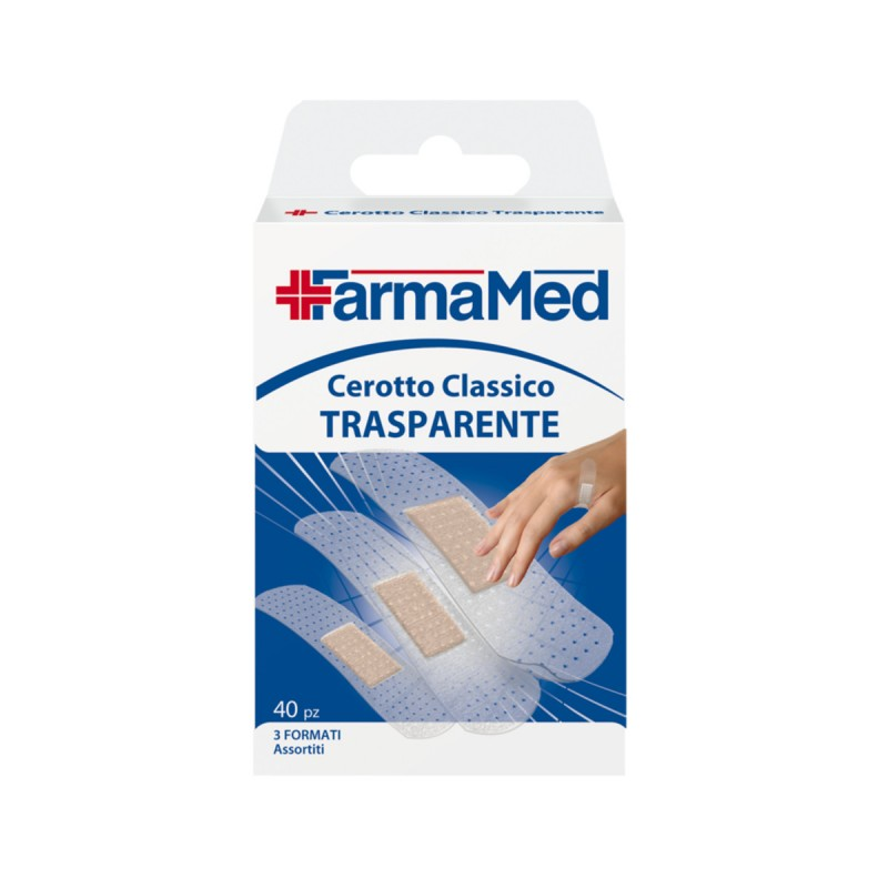 FARMAMED 40 CEROTTI TRASPARENTI ASSORTITI