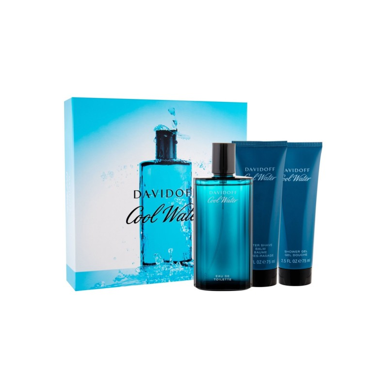 DAVIDOFF COOL WATER UOMO COFANETTO EDT 125 ML + AFTER SHAVE BALM 75 ML