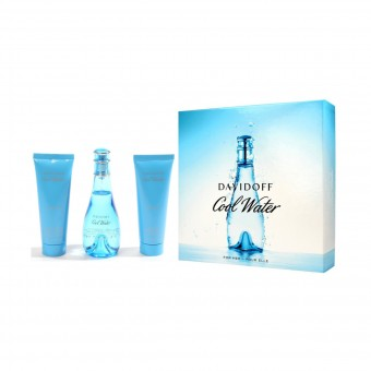 DAVIDOFF COOL WATER WOMAN COFANETTO EDT 100 ML + BODY LOTION 75 ML + DOCCIA GEL 75 ML